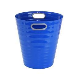 Poubelle, corbeille papier avec poignés 12,5 litres bleu