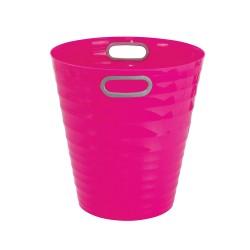 Poubelle, corbeille papier avec poignés 12,5 litres rose
