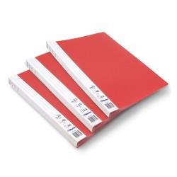 Lot de 3 protège-documents Rouge 20 pochettes 40 vues