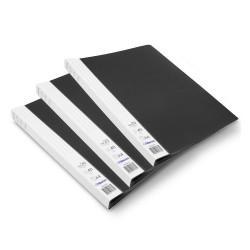 Lot de 3 protège-documents Noir 20 pochettes 40 vues