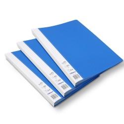 Lot de 3 protège-documents Bleu 40 pochettes 80 vues