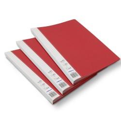 Lot de 3 protège-documents Rouge 40 pochettes 80 vues