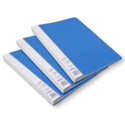 Lot de 3 protège-documents Bleu 60 pochettes 120 vues