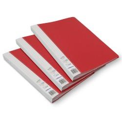 Lot de 3 protège-documents Rouge 60 pochettes 120 vues