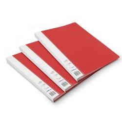 Lot de 3 protège-documents Rouge 80 pochettes 160 vues