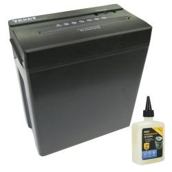 Lot destructeur de documents coupe croisée 14 litres + huile lubrifiante 240 ml