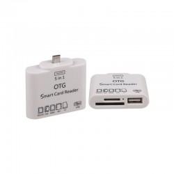 Adaptateur micro USB vers USB + Lecteur de cartes pour GSM, tablettes... 0.15 cm