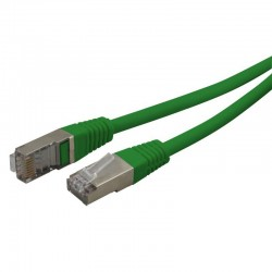 Cable reseau blinde ADSL 5.0m Cat.5e vert