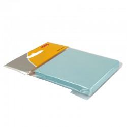 Bloc note repositionnable bleu 100 feuilles 75x75mm suspendu