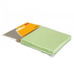 Bloc note repositionnable vert 100 feuilles 75x75mm suspendu