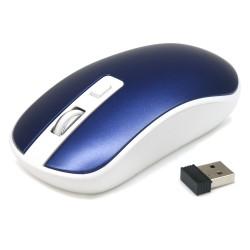 Souris optique sans fil mini dongle USB 1600 DPI max BLEU ACIER - Waytex
