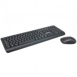Pack clavier souris sans fils multimédia 2.4 GHz portée 10.00m noir