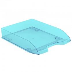 Corbeille courrier anti-choc A4 empilable 345x255x67mm bleu transparent