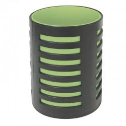 Pot à crayons 105x78mm Noir/vert