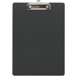 Porte bloc à pince A4 en polypro de 2mm - 22.5 x 31.5 cm - Noir