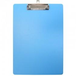 Porte bloc à pince A4 en polypro de 2mm - 22.5 x 31.5 cm - Bleu