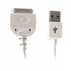 Cordon USB pour iPhone 4 - 1.0m blanc