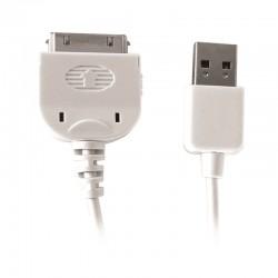 Cordon USB pour iPhone 4 - 2.0m blanc