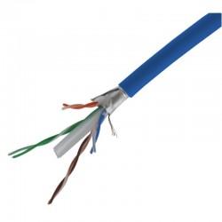 Cable reseau FTP Cat6 bleu bobine de 100.00m