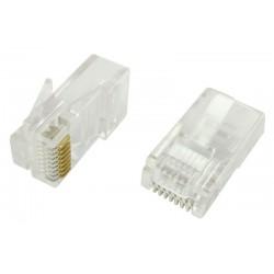 Connecteur RJ45 Cat. 5e cable plat sachet 100