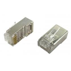 Connecteur RJ45 Cat 6 blinde special tous cables s