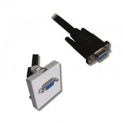 Plastron 45x45 HD15 F/F avec cable 20.00cm