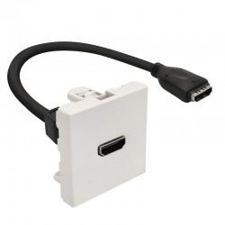 Plastron 45x45 HDMI F/F avec cable 20.00cm
