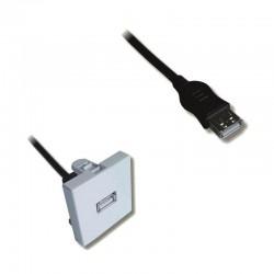 Plastron 45x45 USB F/F avec cable 20.00cm