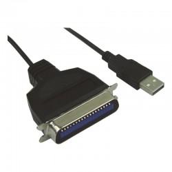 Cordon USB 2.0 vers port parallele centro 36