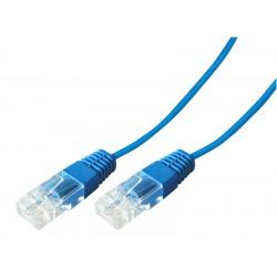 Cordon telephone RJ45 1 paire 4-5/4-5 bleu 0.50m
