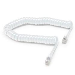 Cable spirale RJ9 pour combine 3.00m ivoire