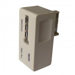 Prise gigogne telephone avec Filtre ADSL + RJ12