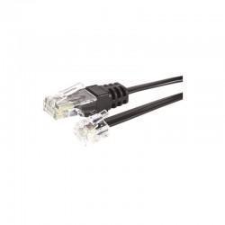 Cable telephone RJ11 4C / RJ45 8C M/M 10.00M